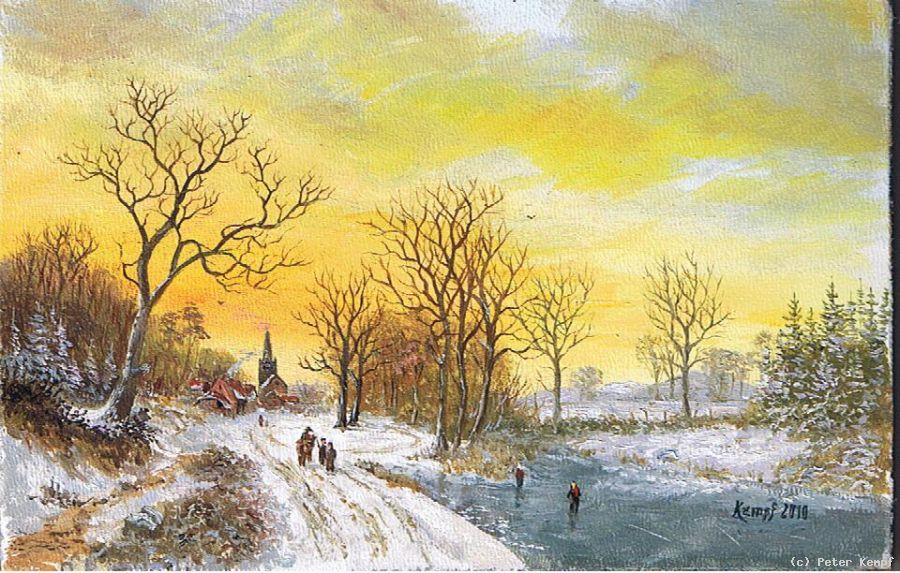winterlandschaft von peter kempf at artistsde k252nstler