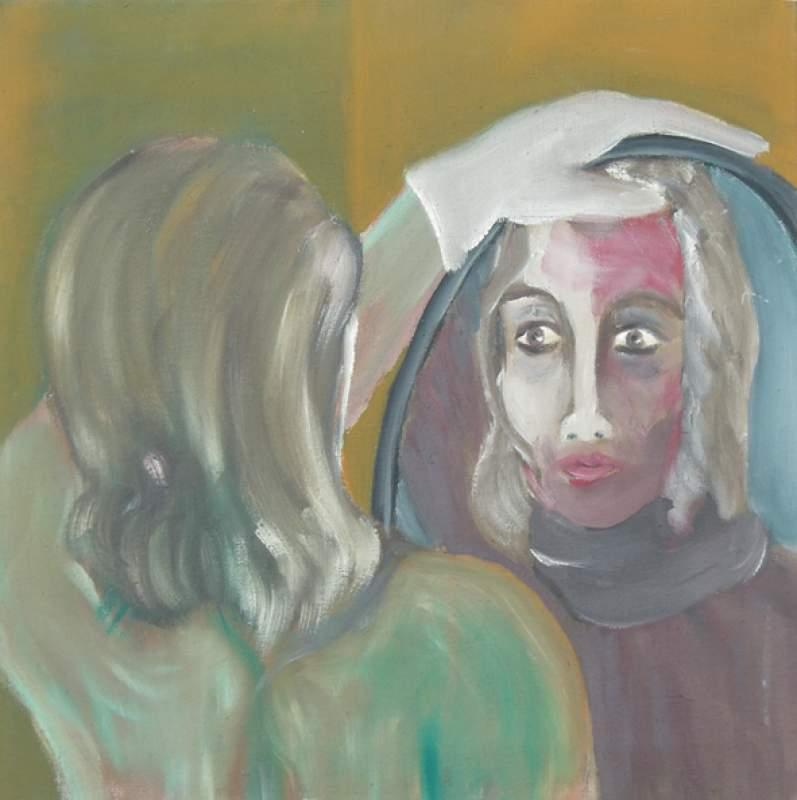 Frau im spiegel von hartmut g rtler at for Redaktion spiegel