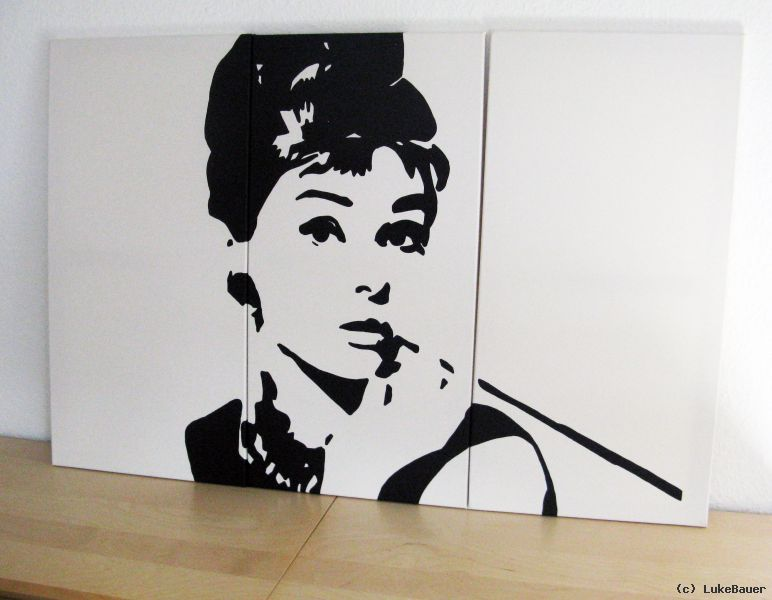 audrey hepburn pop art von lukebauer at k nstler kunst und kunstwerke. Black Bedroom Furniture Sets. Home Design Ideas