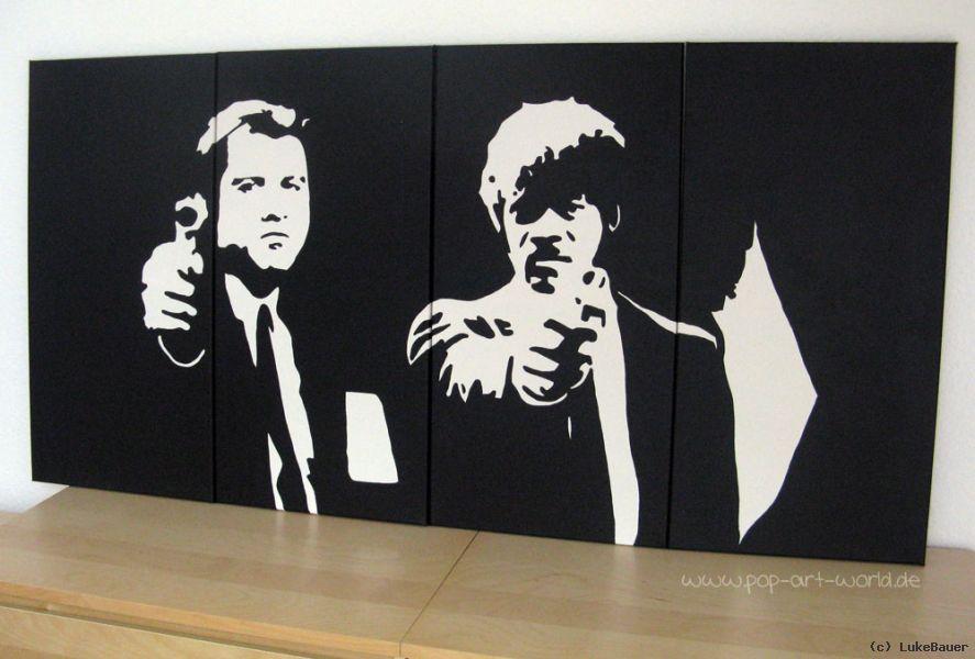 pulp fiction pop art leinwand von lukebauer at artists. Black Bedroom Furniture Sets. Home Design Ideas
