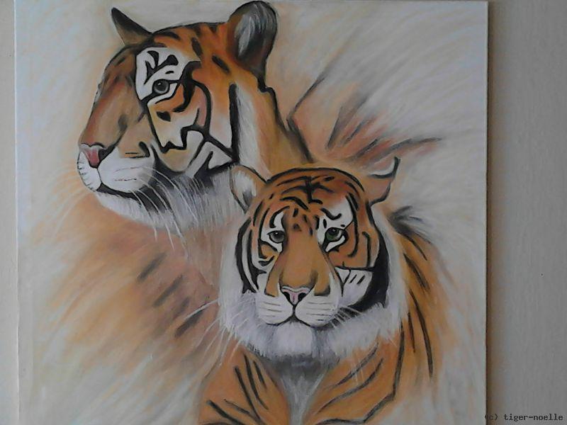 tigerpaar von tiger noelle at k nstler kunst und kunstwerke. Black Bedroom Furniture Sets. Home Design Ideas