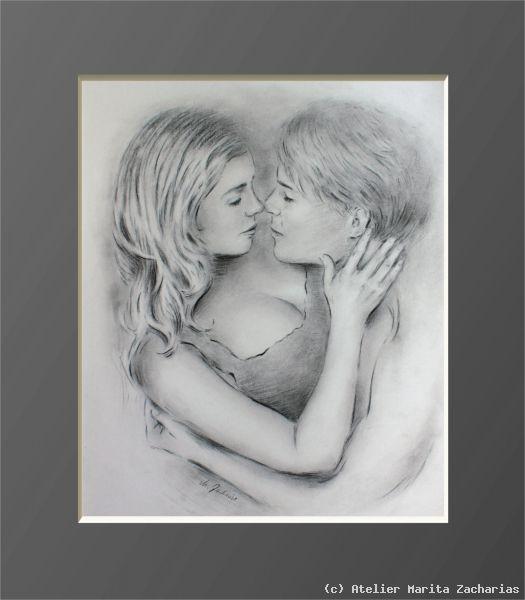 erotische paare schwan zeichnung