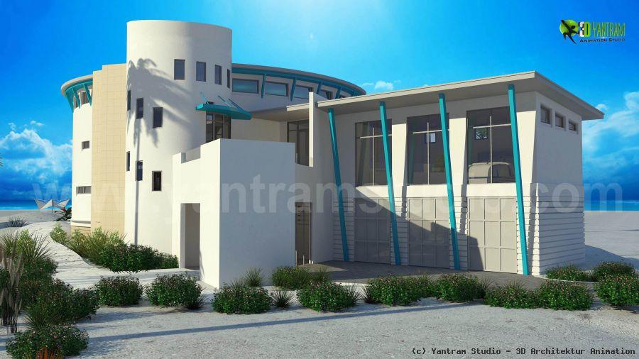 3d luxuri ses haus exterior design rendering von yantram. Black Bedroom Furniture Sets. Home Design Ideas