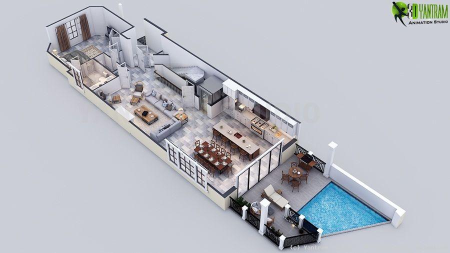 mit smarten effekten von 3d luxus grundriss design von. Black Bedroom Furniture Sets. Home Design Ideas