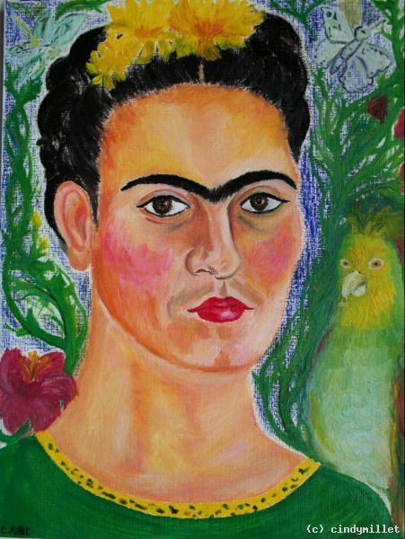 portrait of frida kahlo zapotec icon von cindymillet at k nstler kunst und kunstwerke. Black Bedroom Furniture Sets. Home Design Ideas