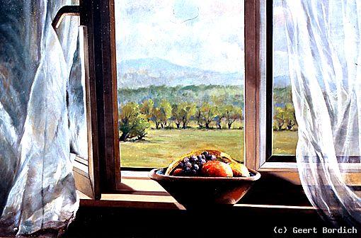 Blick aus dem fenster bilder  Blick durchs Fenster Sandweier von Geert Bordich at artists.de ...