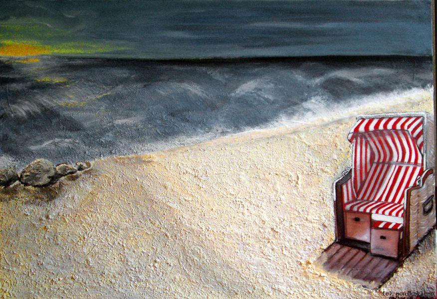 Strandkorb sonnenaufgang  Strandkorb von Monika Klemp at artists.de - Künstler, Kunst und ...