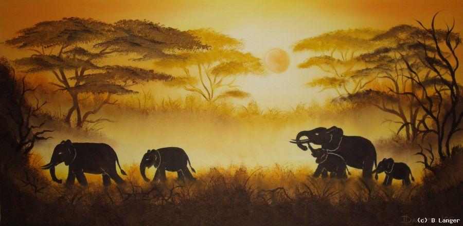 elefanten im nebel von d langer at k nstler. Black Bedroom Furniture Sets. Home Design Ideas